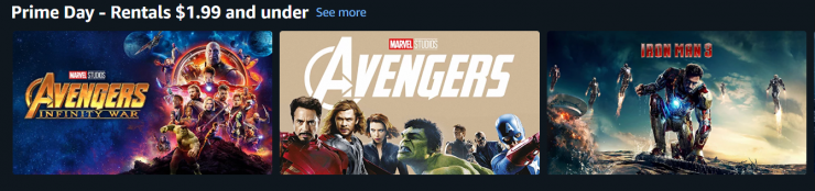 Prime Day Avenger Movies for $1.99