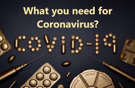 what you need for coronavirus
