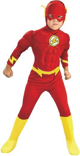 Rubie's DC Comics Deluxe Muscle Chest The Flash Child's Costume 万圣节装扮