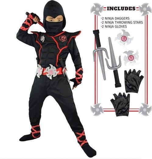 Spooktacular creations boys ninja deluxe costume 万圣节装扮