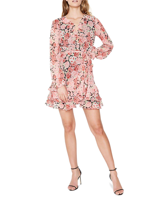 Bardot Triple Frill Mini Floral Dress