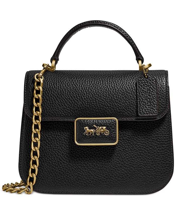COACH - Alie Top Handle Leather Satchel