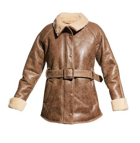 Veronica Beard Bonny Leather Coat