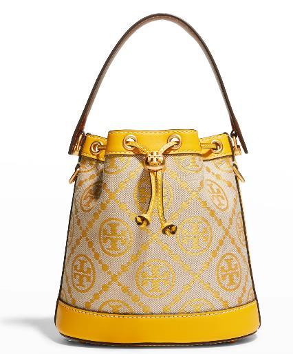 Tory Burch T Monogram Jacquard Bucket Bag