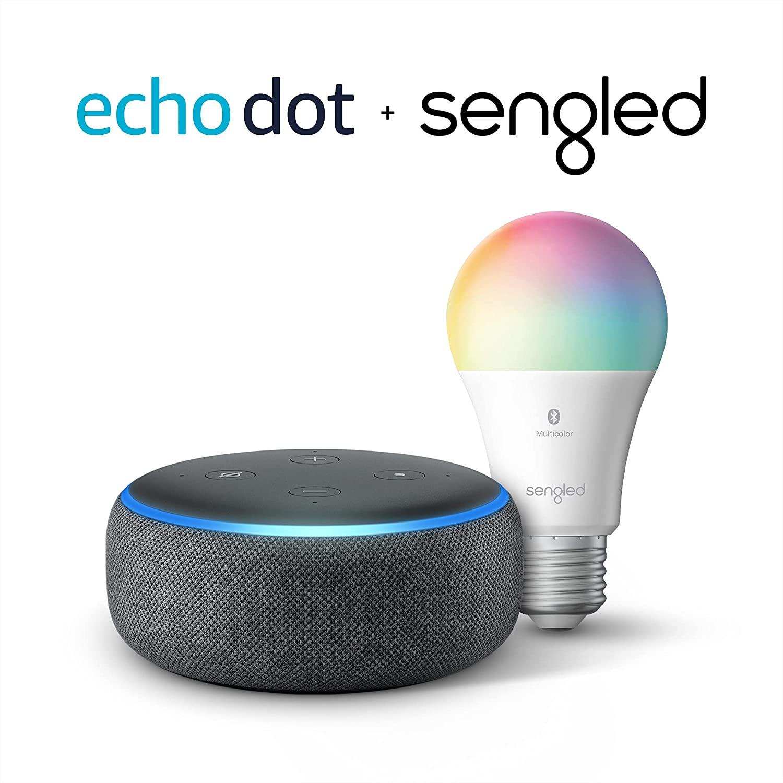 Echo Dot智能音响灯泡组合